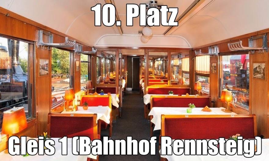 Gleis 1 im Bahnhof Rennsteig