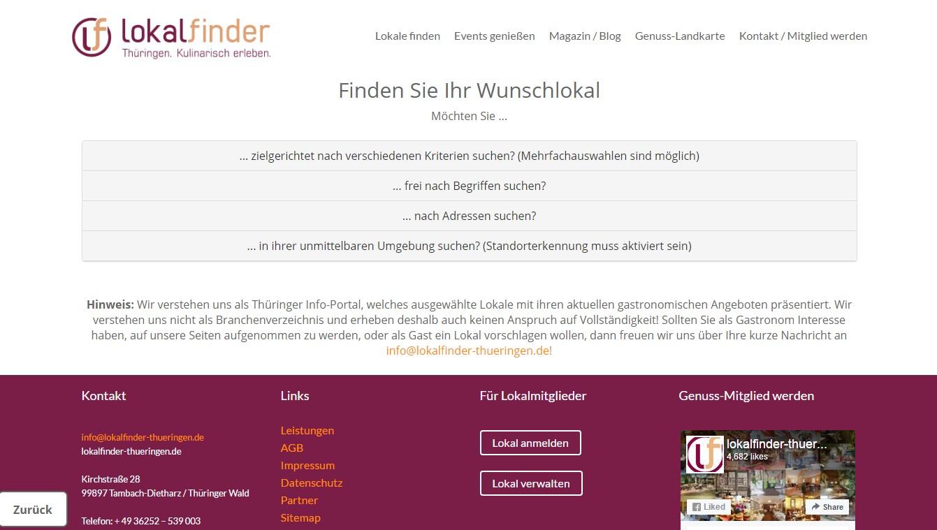lokalfinder_Suchfunktionen